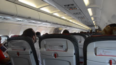 Passengers in a plane during the flight Stock Footage