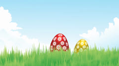 Happy Easter Egg on Grass Stock Footage