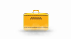 Yellow Travel Case Drop Stock Footage