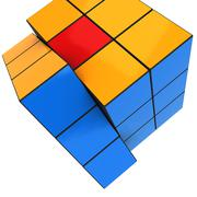 Stock Illustration of Illustration of multi color puzzle cube