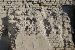 Jagged White Brick Wall Stock Photos