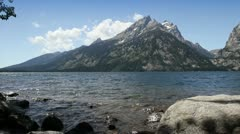 Jenny Lake at Grand Teton Stock Footage