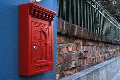 Postilaatikko seinään Kuvituskuvat