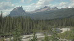 Banff National Park Mountains - stock footage