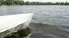 Lake Boating Stock Footage
