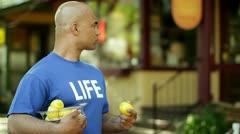 Ripping Lemon Stock Footage