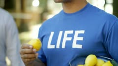 Life Gives Lemons CU Stock Footage