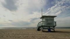 Lifeguard Hut Rear Stock Footage