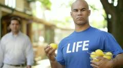 Life Lemons Make …Fruit Punch Stock Footage