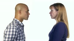 Man and Woman Disagree Stock Footage