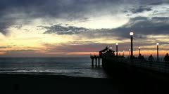 Manhattan Beach Sunset - stock footage