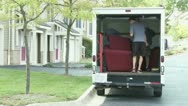 Stock Video Footage of Moving Van