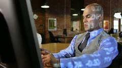 Stock Brokers with White Symbols Stock Footage