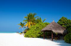 beach hut - stock photo