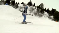 Stock Video Footage of Skier side view