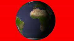 Earth Rotating Slow Stock Footage