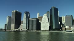 NYC East Financial District Stock Footage