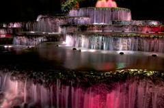 colorful water feature - stock photo