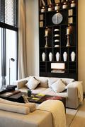 Interiors luxury and design Stock Photos