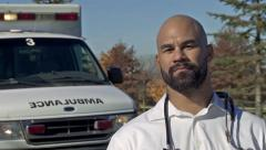 Male Paramedic A Stock Footage