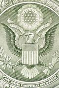 Eagle on the dollar bill, macro Stock Illustration
