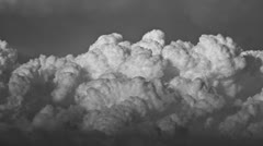 Fantastic Cumulus Clouds in Black & White Stock Footage