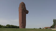 The National Monument to the Victory of the Marne, Mondemont, France. Stock Footage