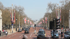 Timelapse on The Mall. London, UK. Stock Footage
