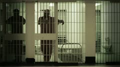 Prisoner in Cell - stock footage