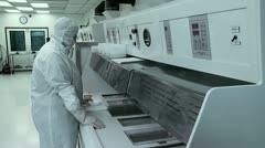 Processing Silicon Wafers Stock Footage