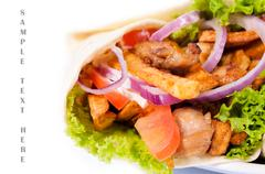 Close up to gyros Stock Photos