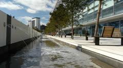 Birmingham Millennium Point Water Feature. Stock Footage