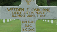 Stock Video Footage of The Aisne-Marne American Cemetery, Belleau, France.