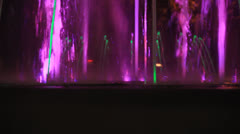 Fountain purple and blue lights Stock Footage