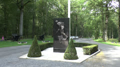 The Belleau Wood USMC Memorials, Picardy, France. Stock Footage