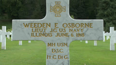 The Aisne-Marne American Cemetery, Belleau, France. Stock Footage