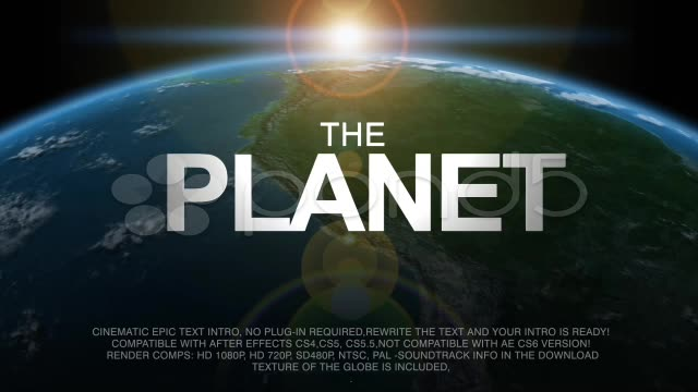 After Effects Project - Pond5 AE PROJECT CINEMATIC THE PLANET- EARTH 227932 ...