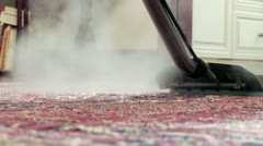 Rug Steamer Detail - stock footage