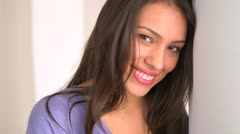 Latina woman smiling at camera - stock footage