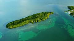 Aerial coastal view of Sub tropical Island Southern Florida - stock footage