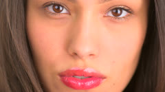 Close up of beautiful mexican woman Stock Footage