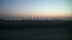 Qatar airport early morning Stock Footage