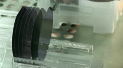 Silicon Wafers Detail A Stock Footage