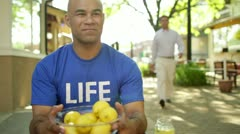 Sharing Lemonade Stock Footage