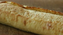 Slicing French Bread Stock Footage