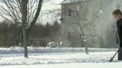 Snow Clearing - stock footage