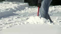 Snow Shovel CU Stock Footage