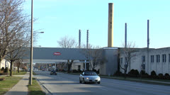 H. J. Heinz Plant - Leamington Ontario Stock Footage