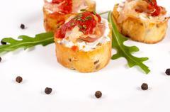 Stock Photo of crunchy bruschetta