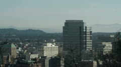 Mount St Helens and Portland Stock Footage